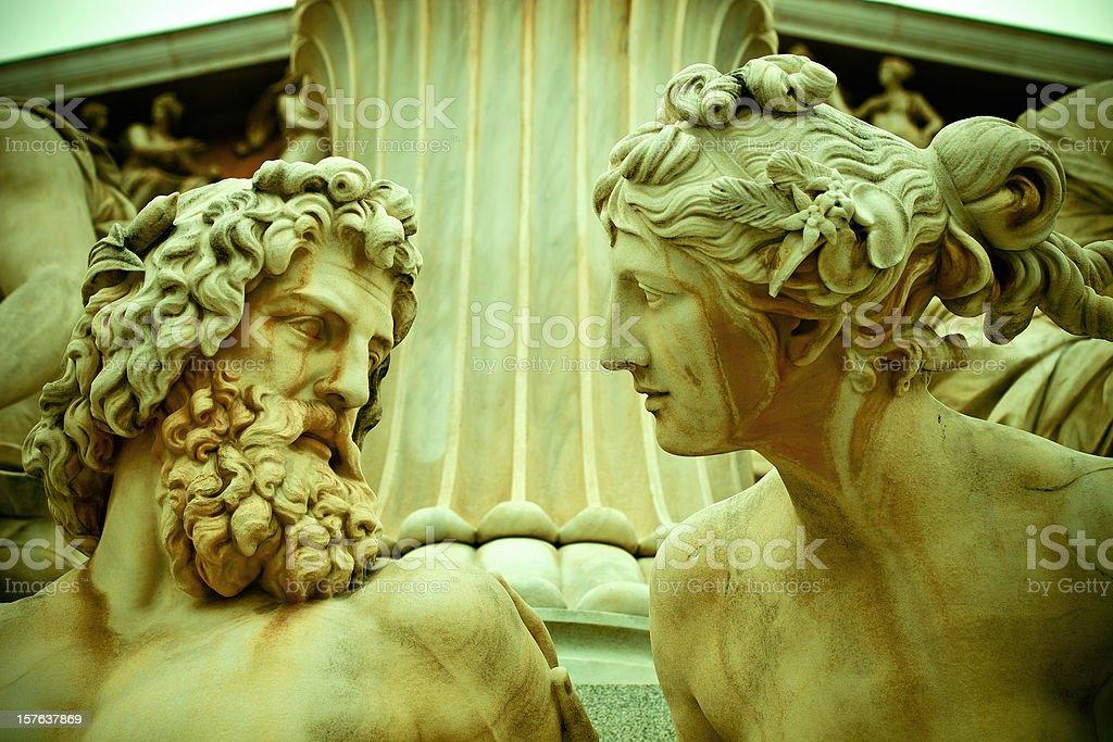 Pallas Athene Statue In Vienna, Austria royalty-free stock photo