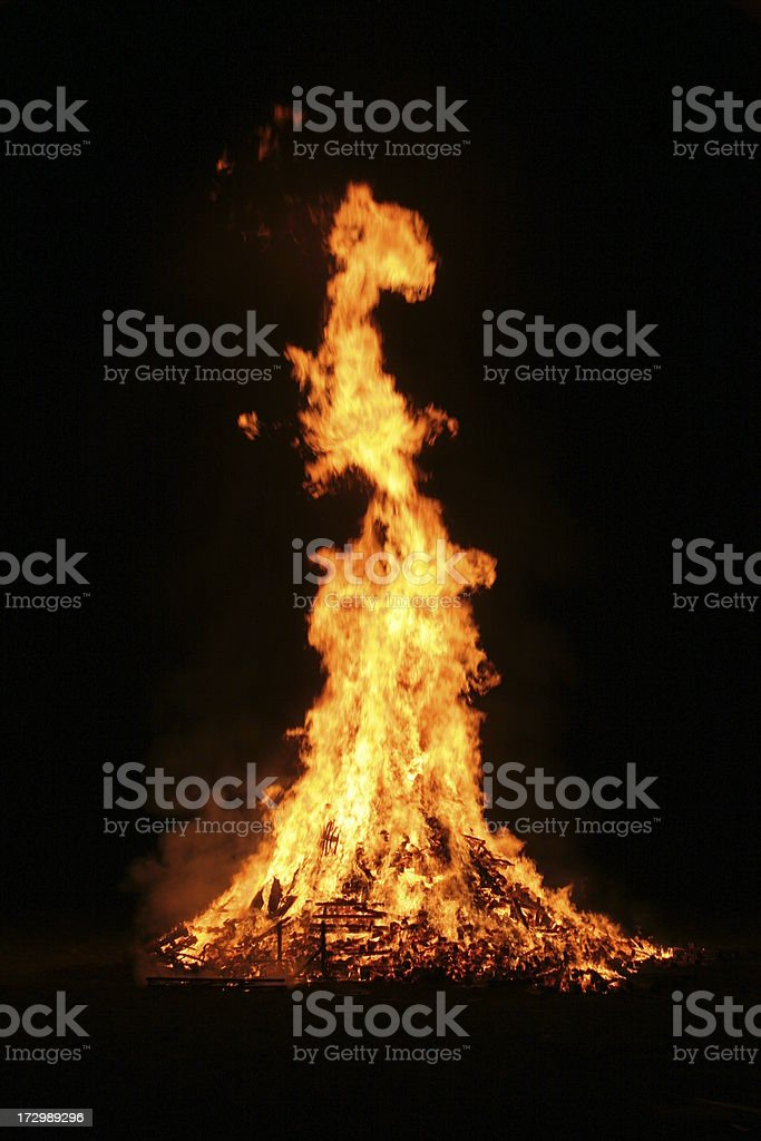 Pallet Fire inferno royalty-free stock photo