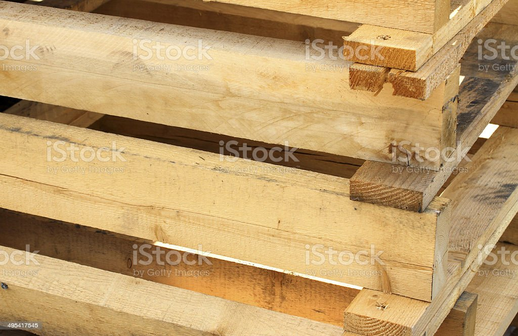 pallet for the transport of goods stock photo