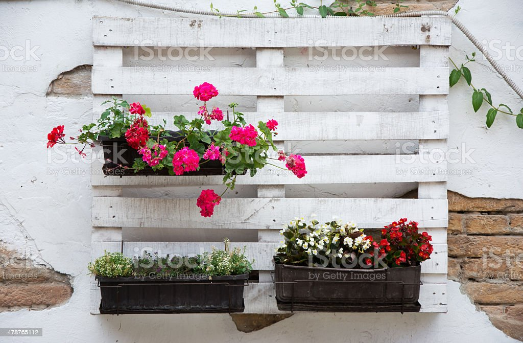 Pallet ideas for gardening stock photo