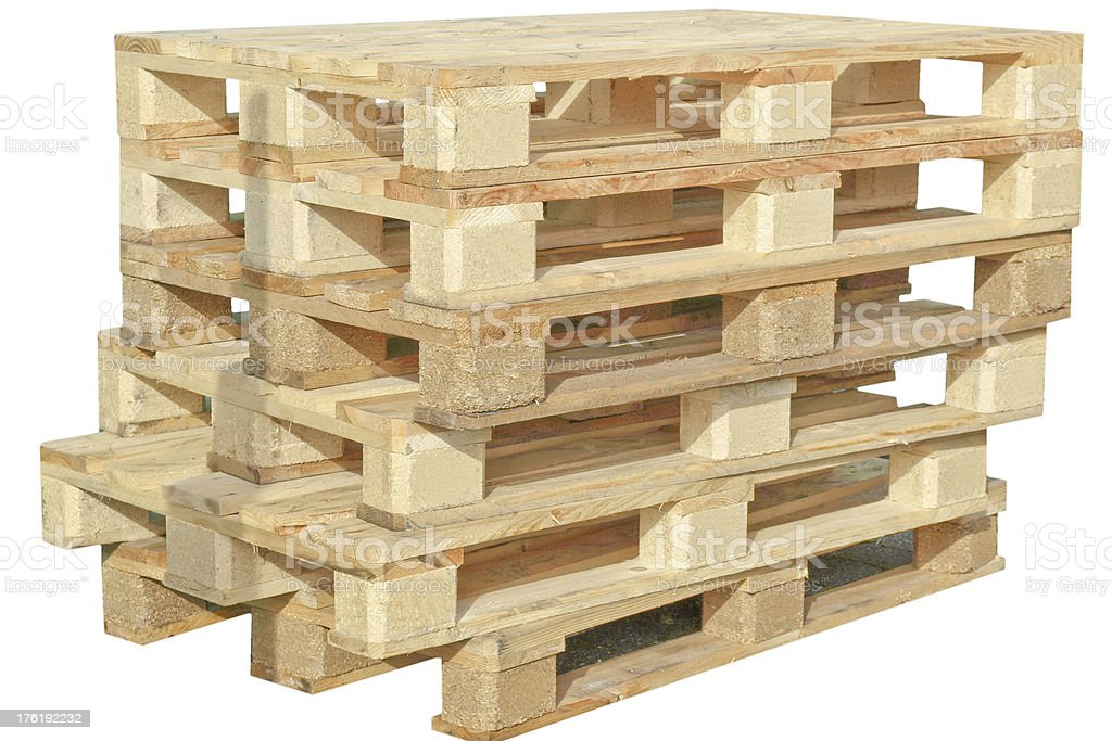 Pallet isolated royalty-free stock photo