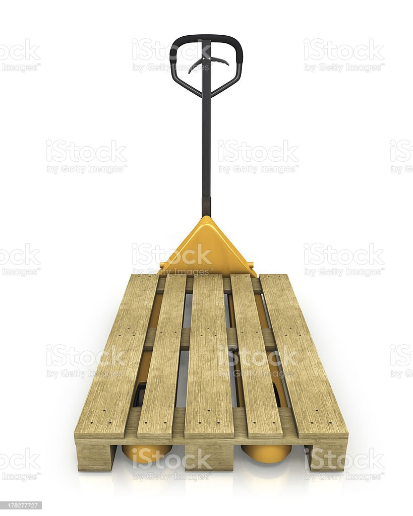 Pallet jack, front view stock photo