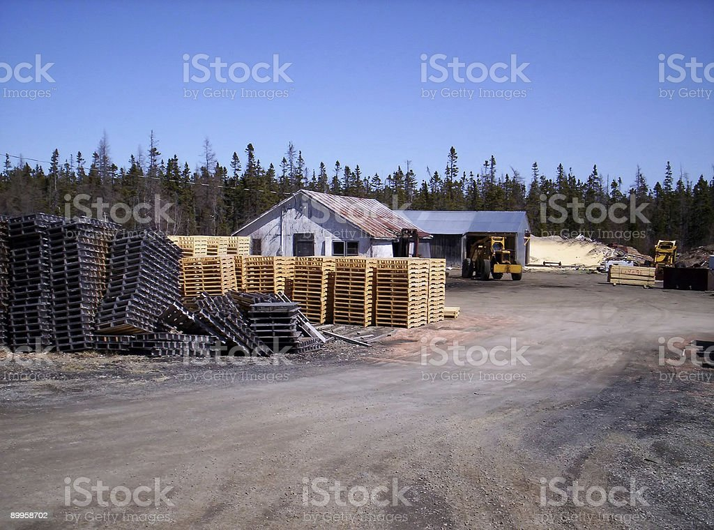 pallet mill royalty-free stock photo