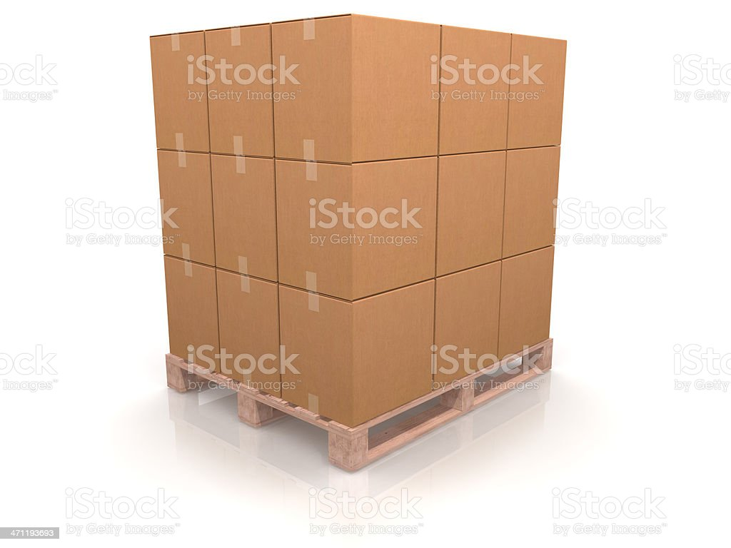 Pallet of Boxes royalty-free stock photo