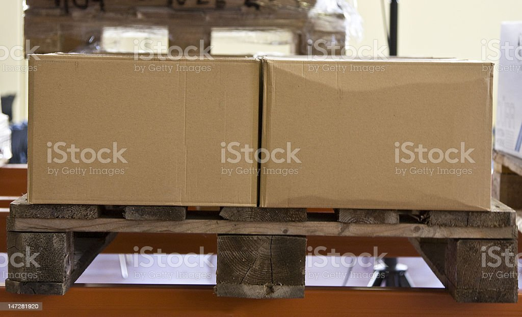 Pallet of Boxes Ready for Shipment royalty-free stock photo