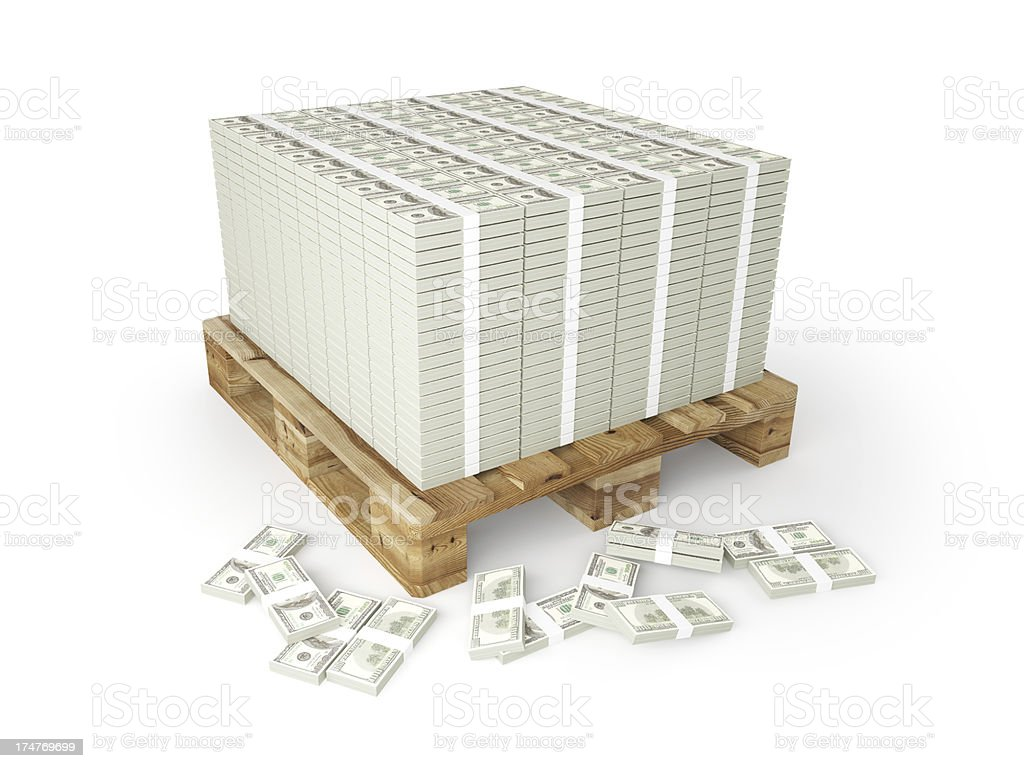 Pallet of Money stock photo