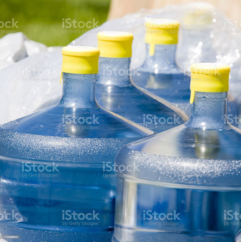 Pallet of Water Bottles stock photo