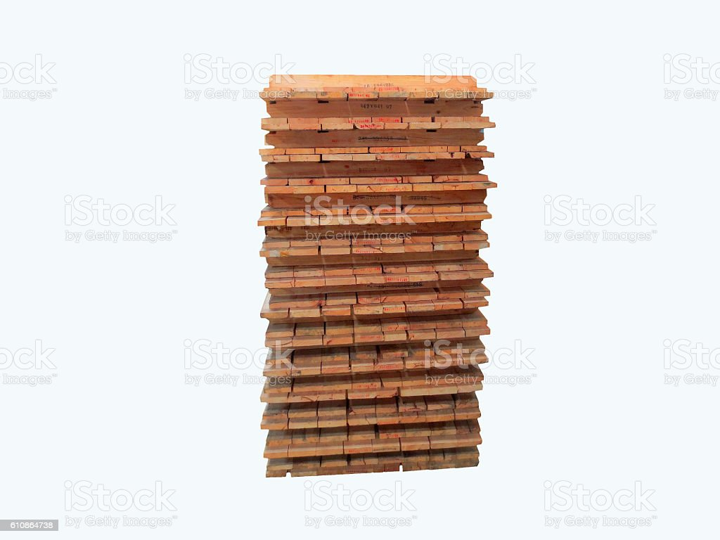 Pallet on the white background ,Material tool stock photo