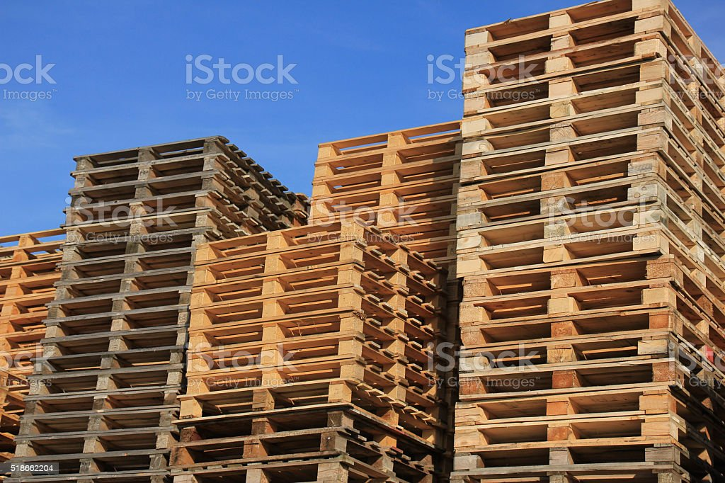 Pallet storage stock photo