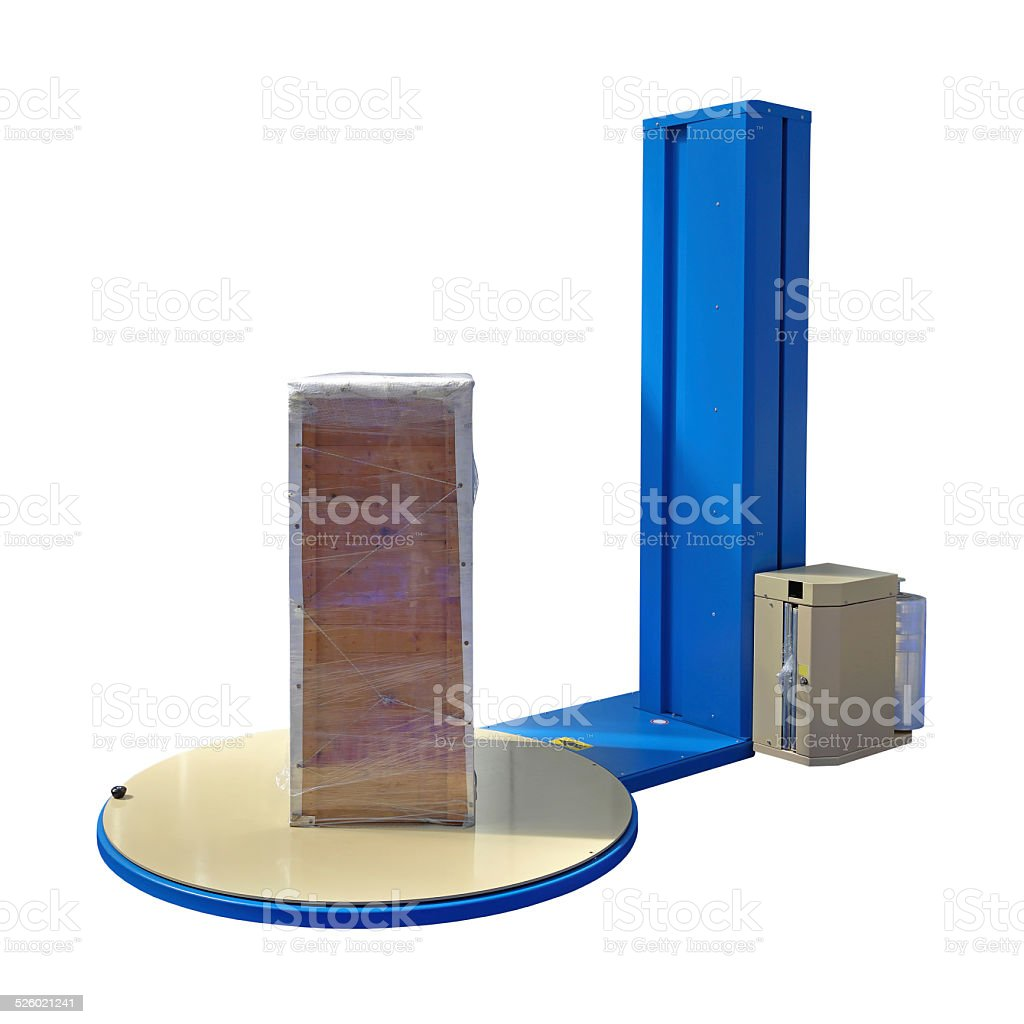 Pallet Stretch Wrapping stock photo