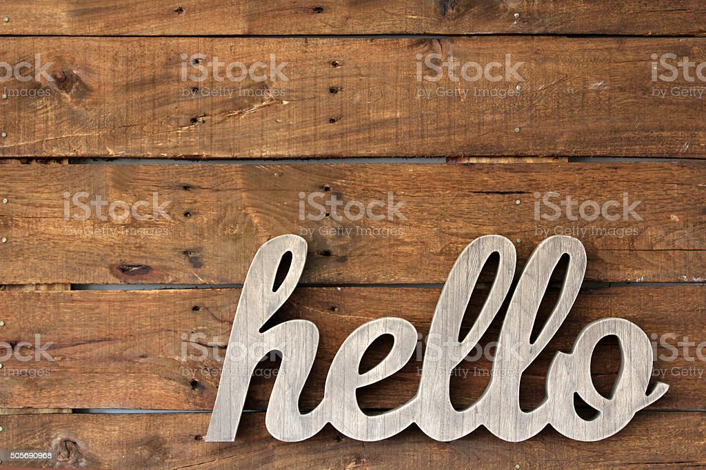 Pallet Wall Decor stock photo