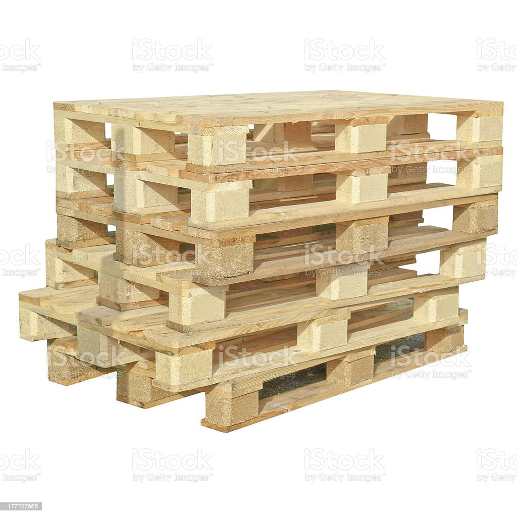 Pallets isolated royalty-free stock photo
