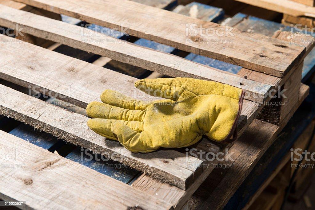 Pallets, strumenti di lavoro stock photo