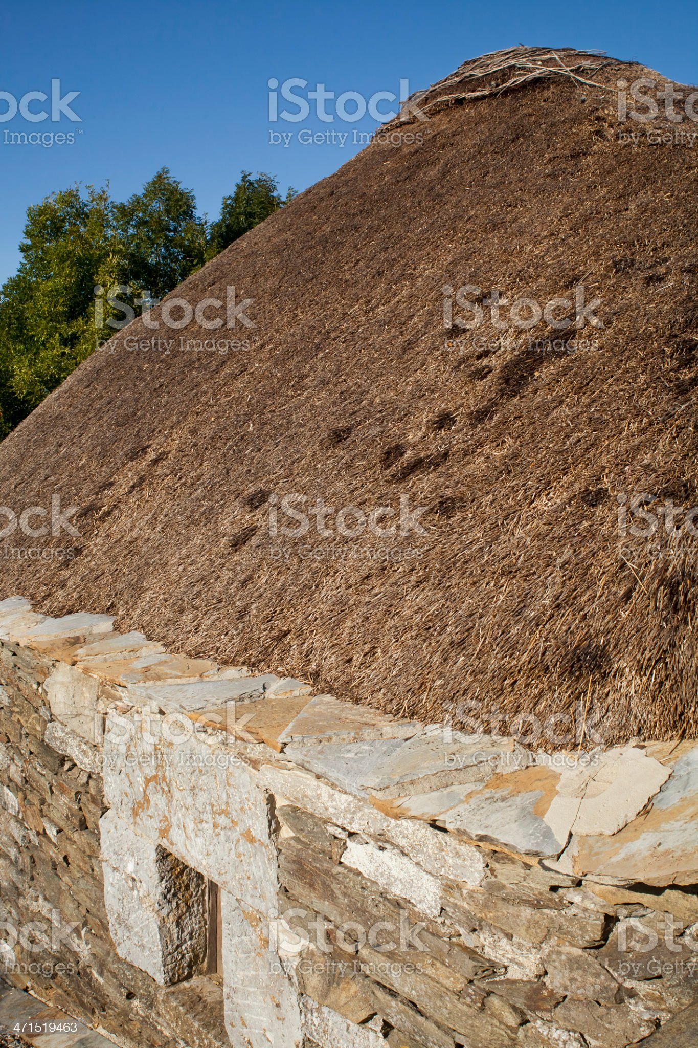 'Palloza' in Pedrafita do Cebreiro (Lugo, Spain). royalty-free stock photo