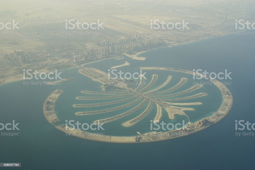 Palm island Dubai stock photo