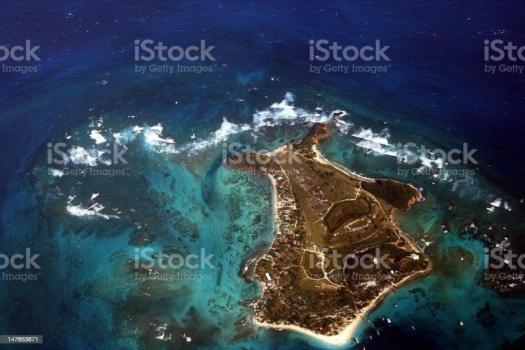 Palm Island, Grenadines stock photo