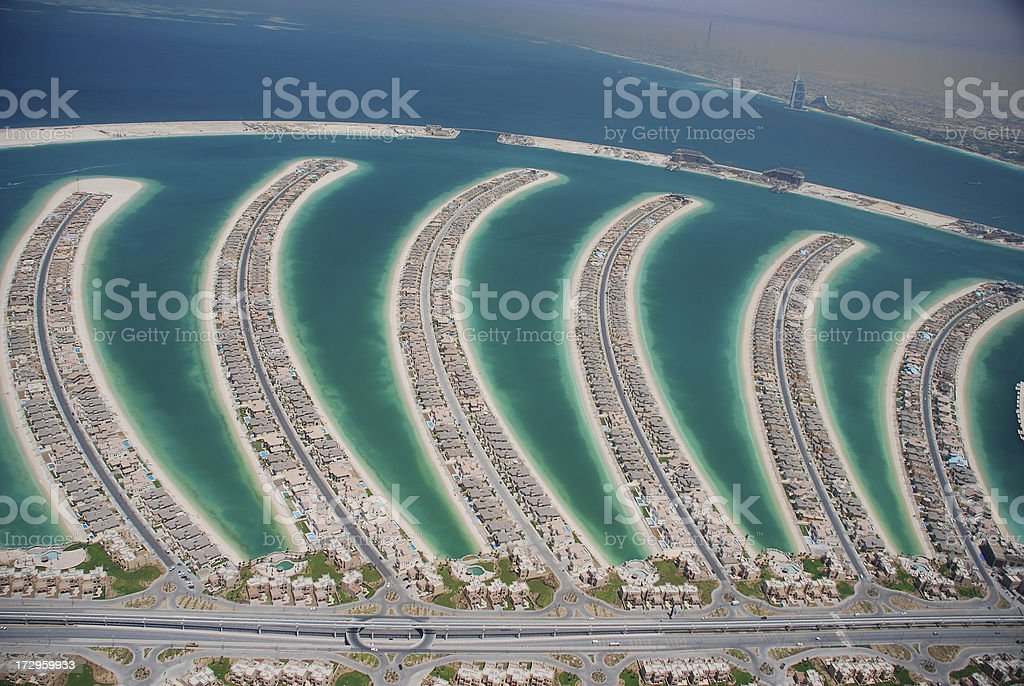 Palm Jumeira Fronds stock photo