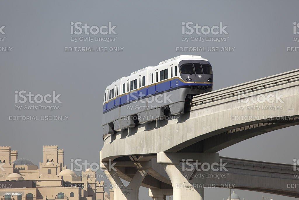 Palm Jumeirah Monorail in Dubai royalty-free stock photo
