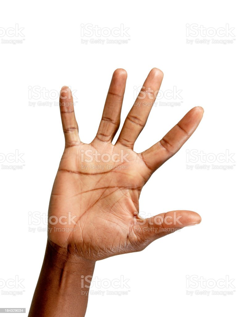Palm of Hand stock photo