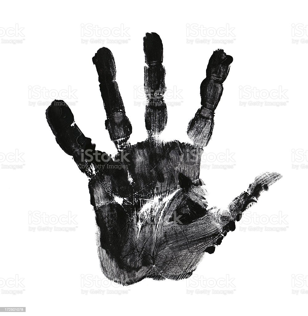 palm of hand print royalty-free stock photo