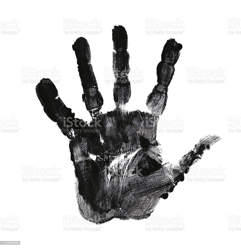 palm of hand print stock photo
