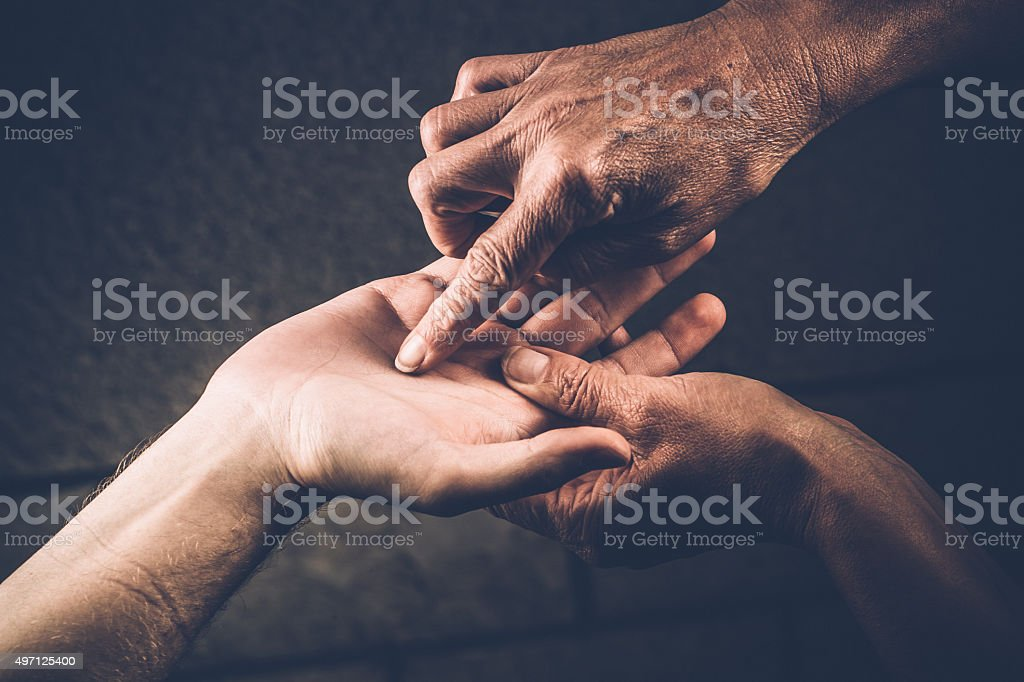 Palm Reading, Hand Gestures stock photo