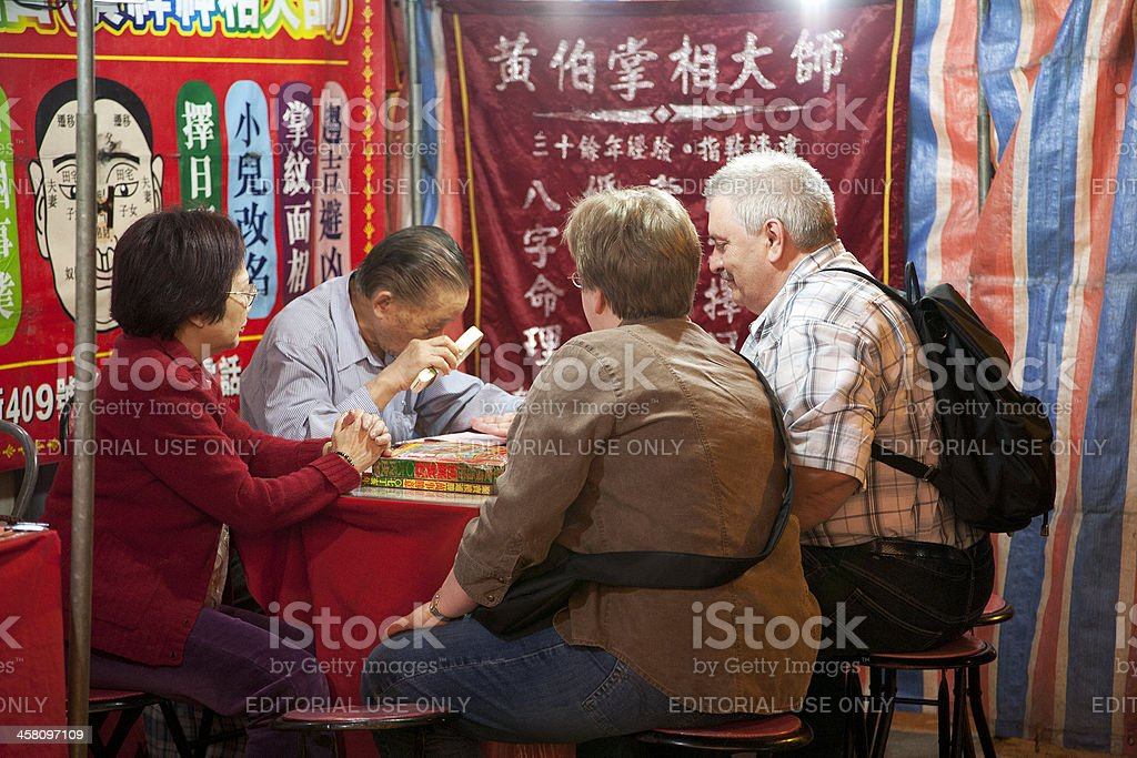 Palm Reading in Hong Kong stock photo