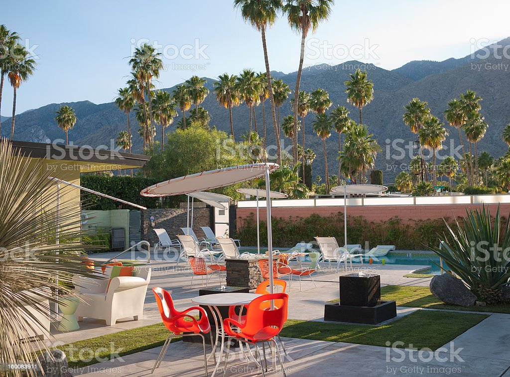 Palm Spring Resort stock photo