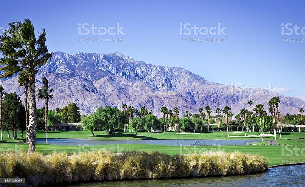 Palm Springs California Golf Course XXXL stock photo