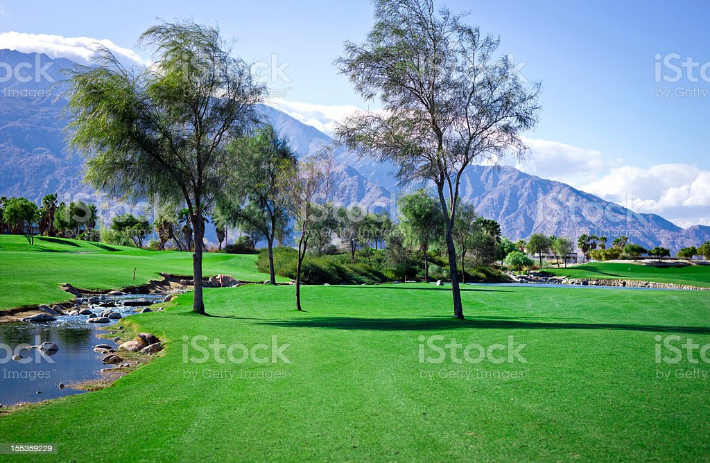 Palm Springs California Golf stock photo