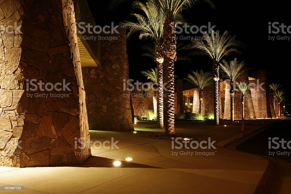 Palm Springs Convention Center At Night royalty-free stock photo