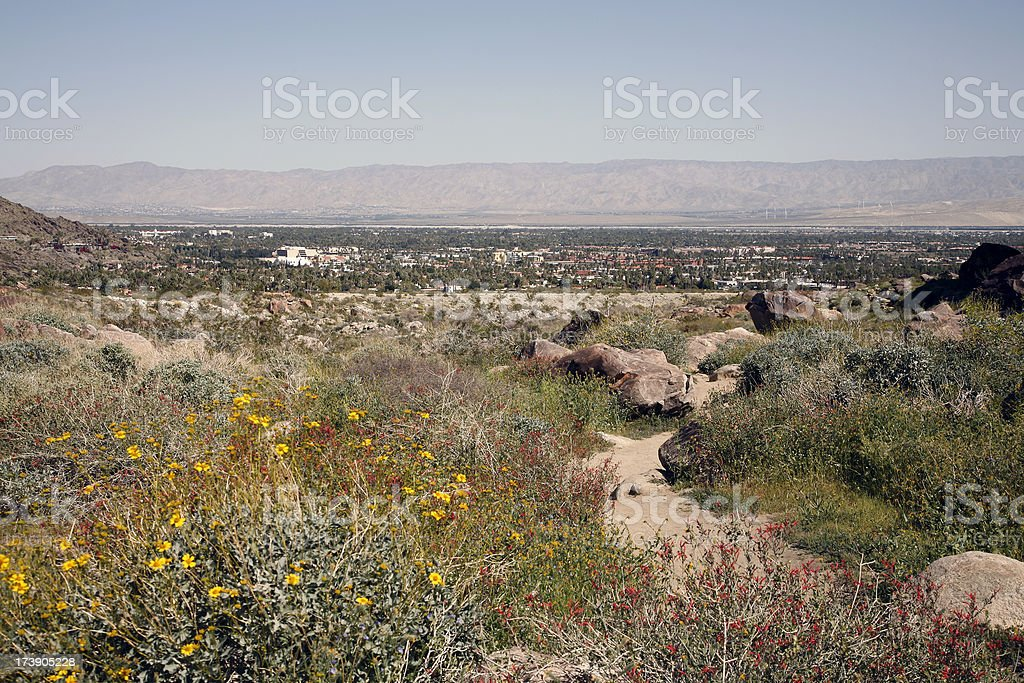 Palm Springs From Tahquitz Canyon stock photo