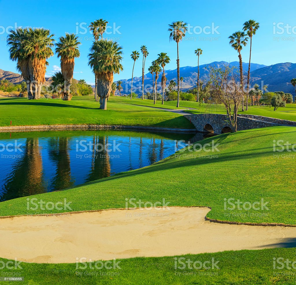 Palm Springs golf course, CA stock photo