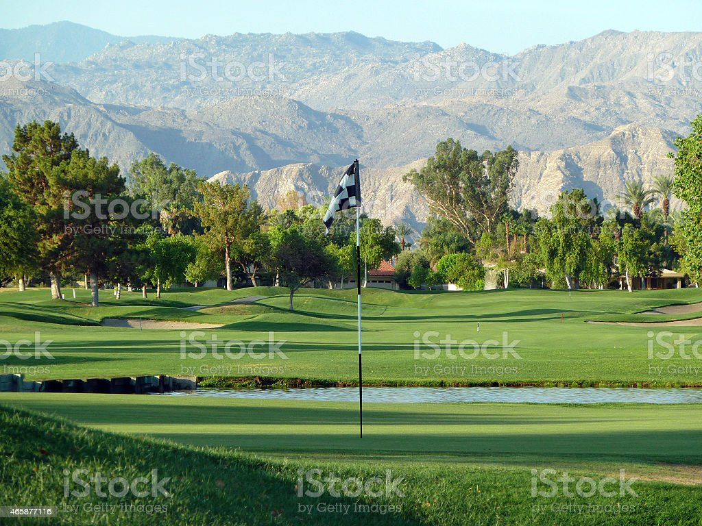 Palm Springs golf course green stock photo