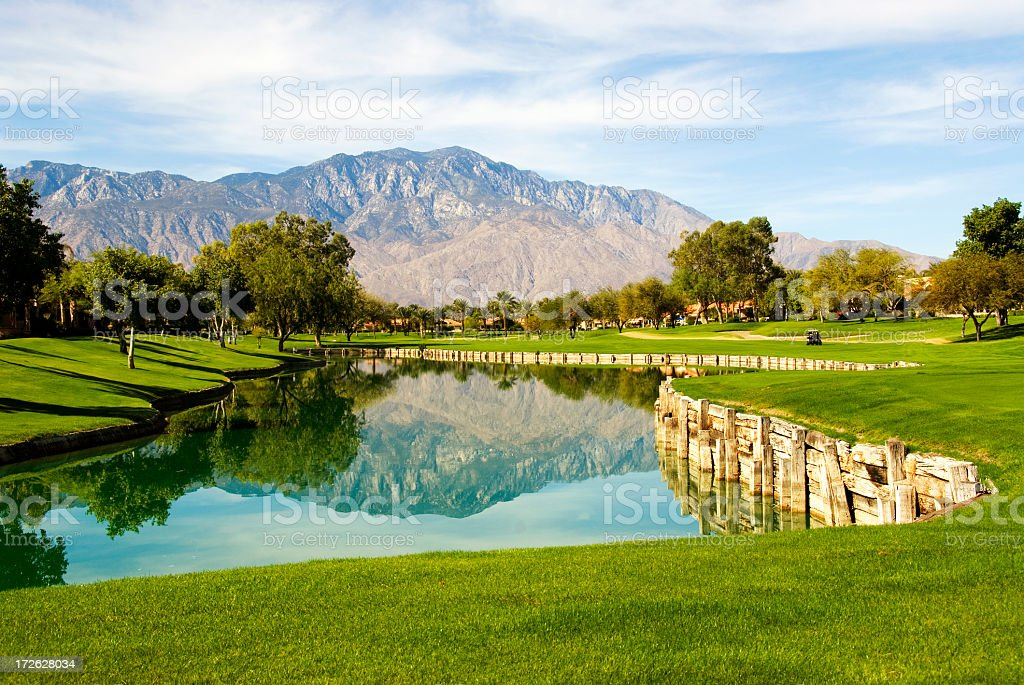 Palm Springs golf course landscape royalty-free stock photo