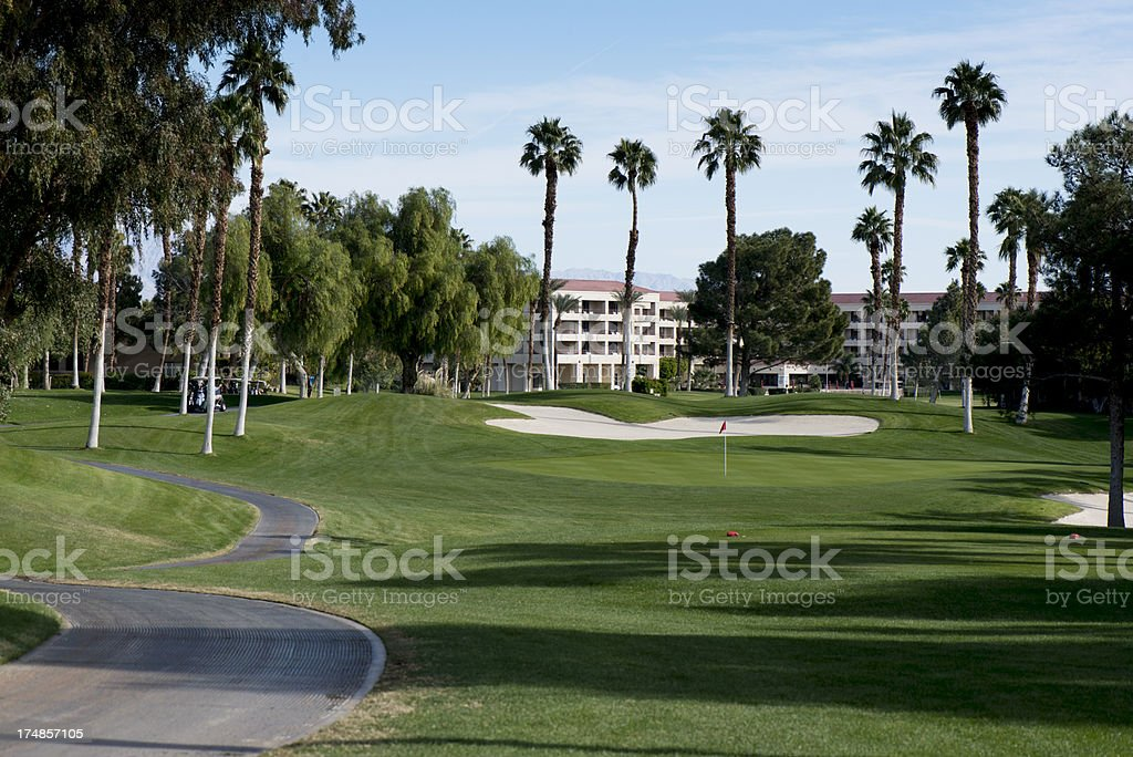 Palm Springs Golf Course royalty-free stock photo