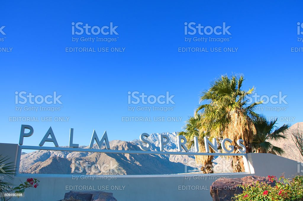Palm Springs Sign in Palm Springs stock photo