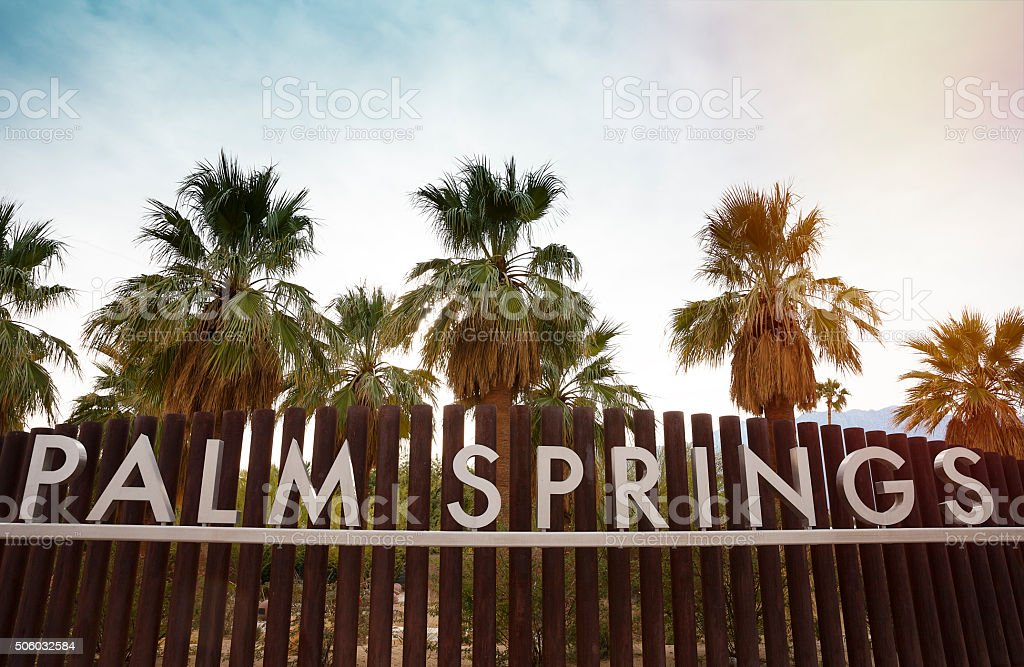 Palm Springs sign stock photo