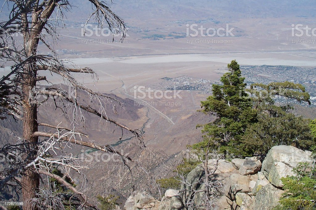 Palm Springs view royalty-free stock photo