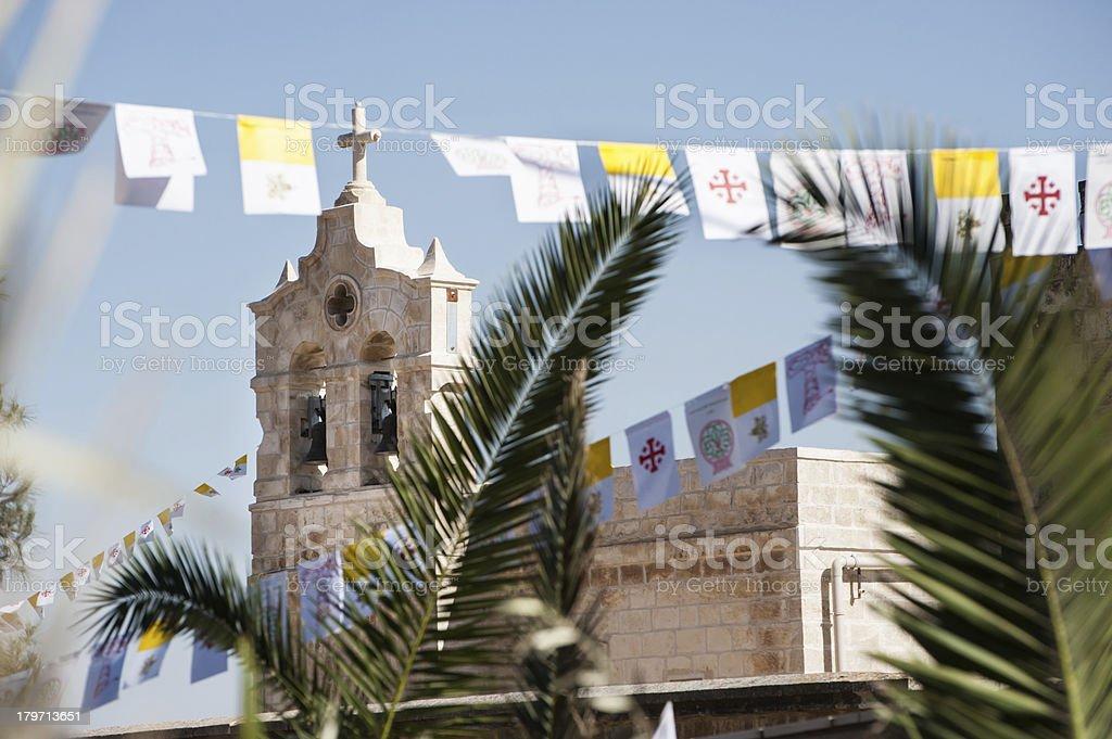 Palm Sunday church stock photo