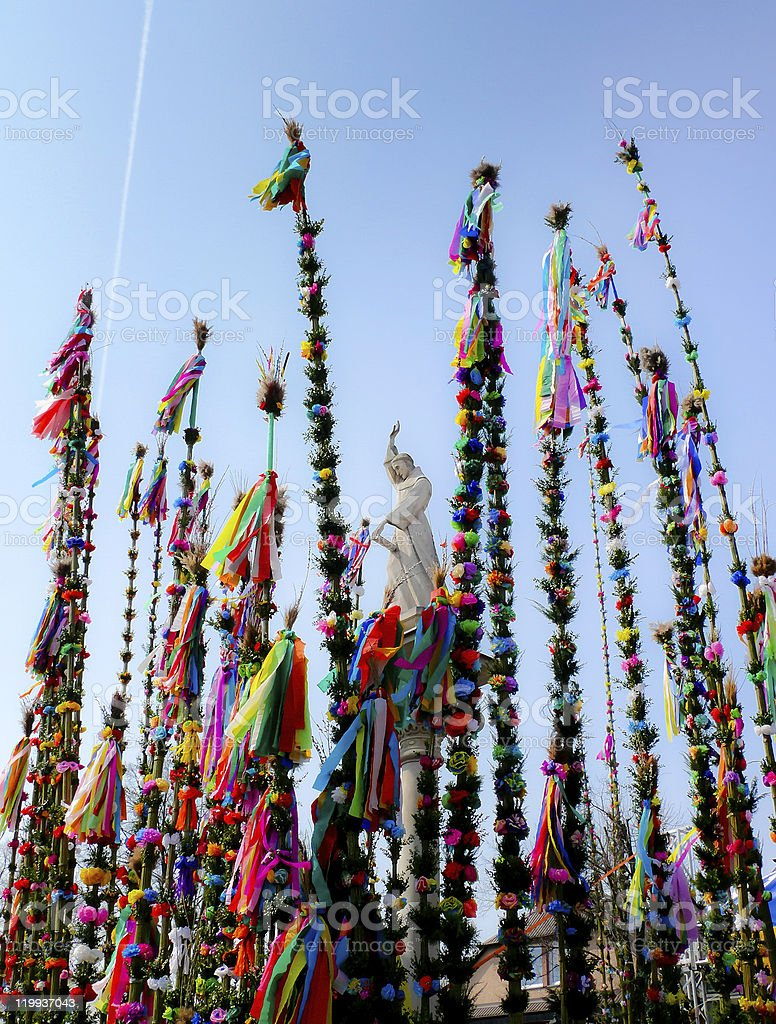 Palm Sonntag-Ostern biblischen tradition heute Lizenzfreies stock-foto