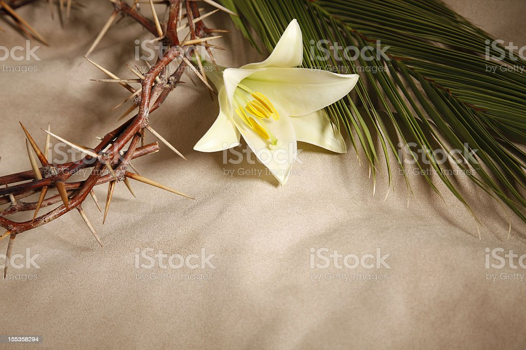 Palm Sunday, Good Friday and Easter royalty-free stock photo