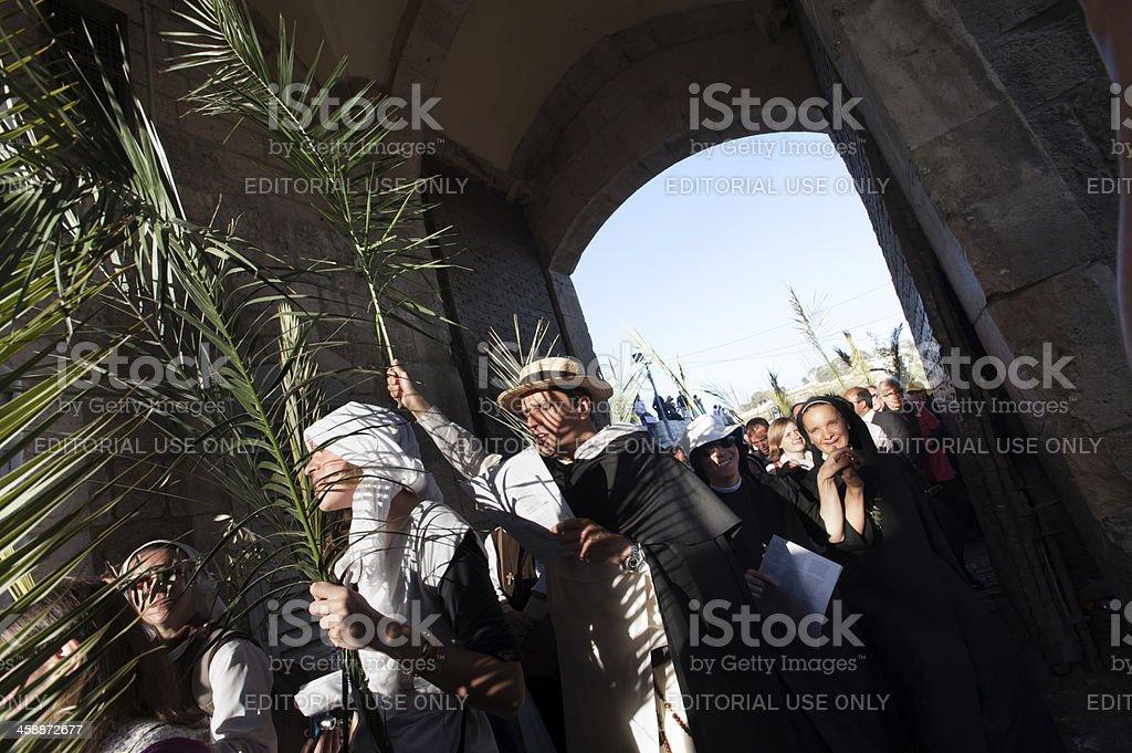 Palm Sunday in Jerusalem stock photo
