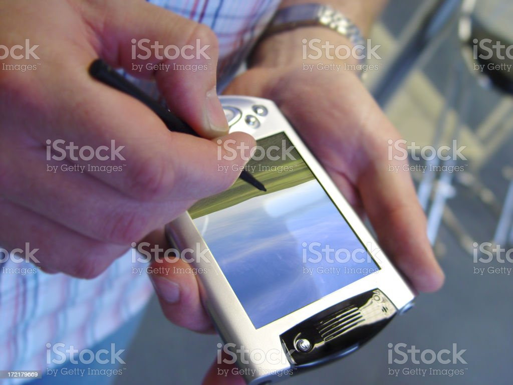PDA palm top royalty-free stock photo