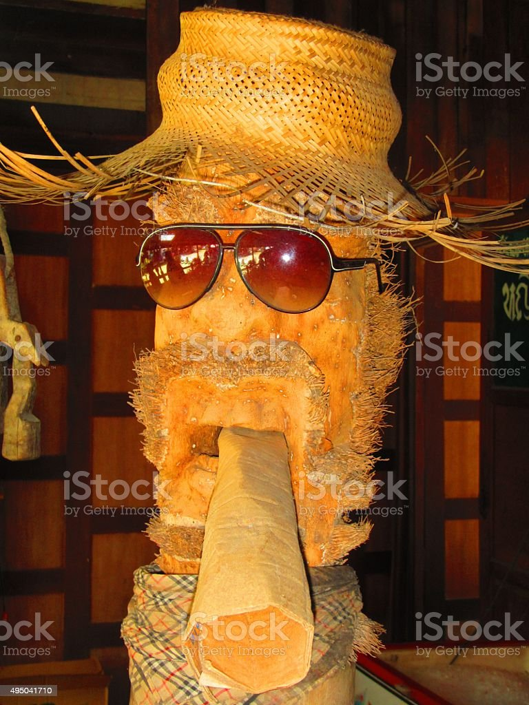 Palm Tree Smoker stock photo