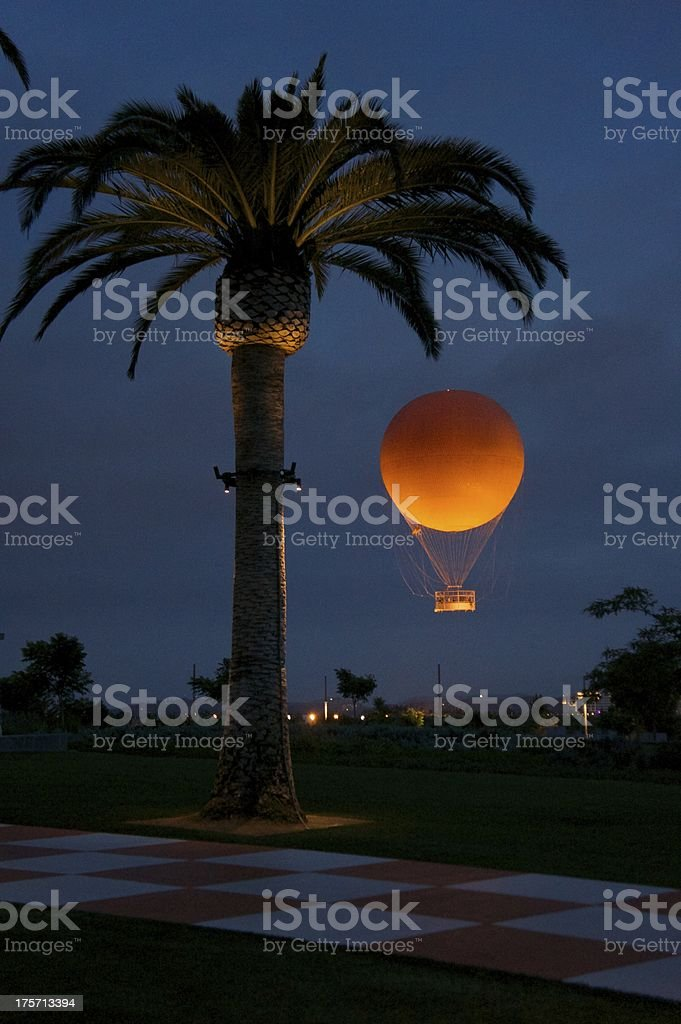 Palm Tree With Balloon stock photo