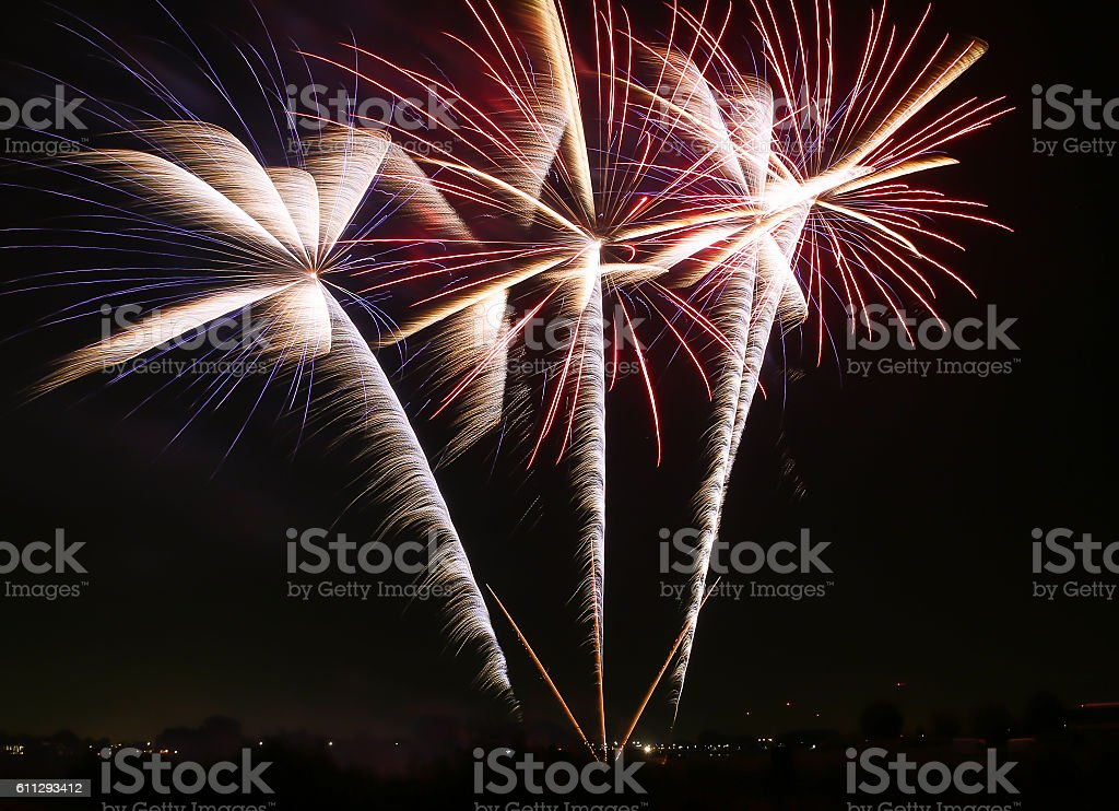 Palm trees of fire stock photo