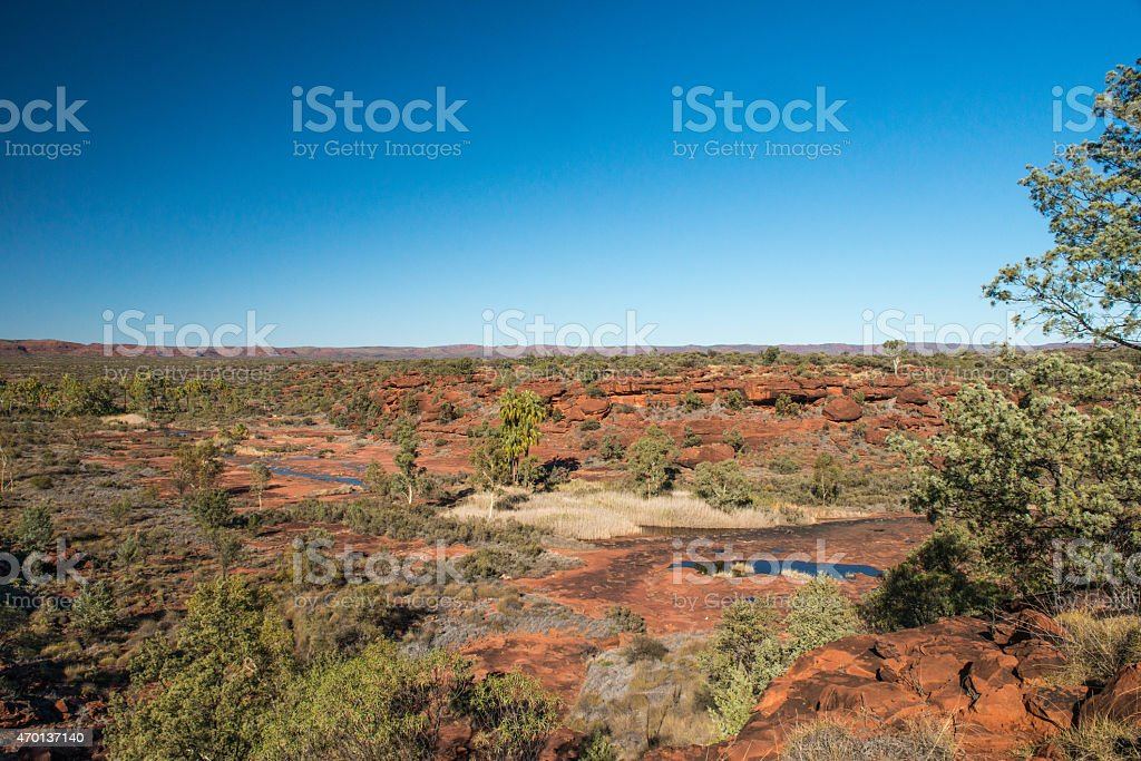 Palm Valley Landscape, Finke National Park, Northern Territory stock photo