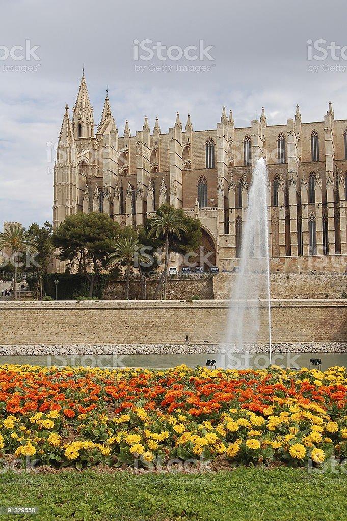 Palma de Majorca Cathedral royalty-free stock photo