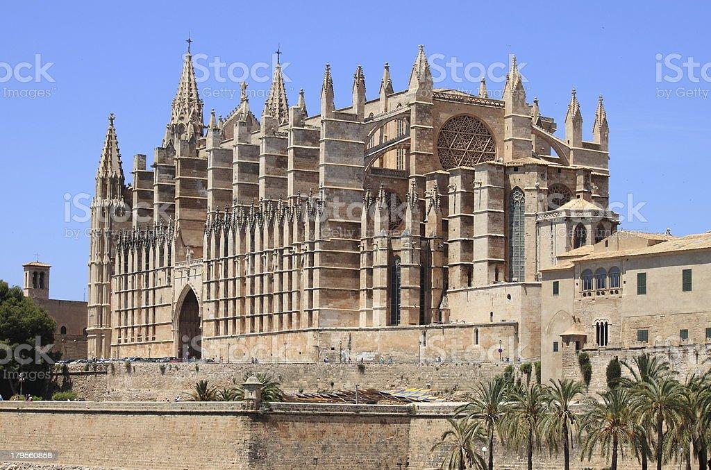 Palma de Mallorca cathedral royalty-free stock photo
